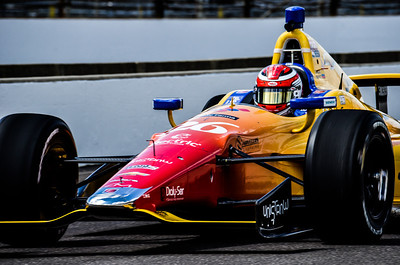 Carlos Munoz, Andretti Autosport, Rookie, 2nd place finisher, 2013 Indianapolis 500 on pit lane